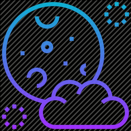Cloud, Full, Halloween, Moon Icon