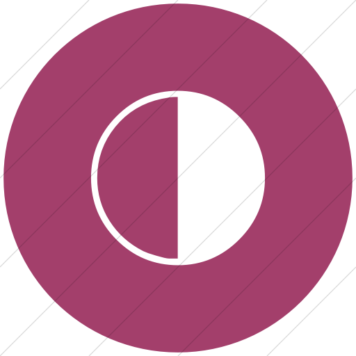Flat Circle White On Pink Classica Last Quarter Moon Icon