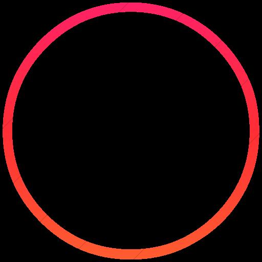 Simple Ios Orange Gradient Classica Full Moon Icon
