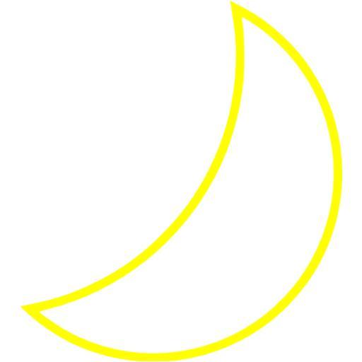 Yellow Moon Icon