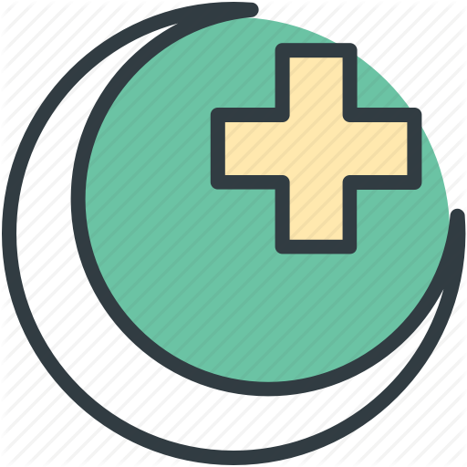 Hospital Logo, Hospital Sign, Hospital Symbol, Medical Cross, Moon
