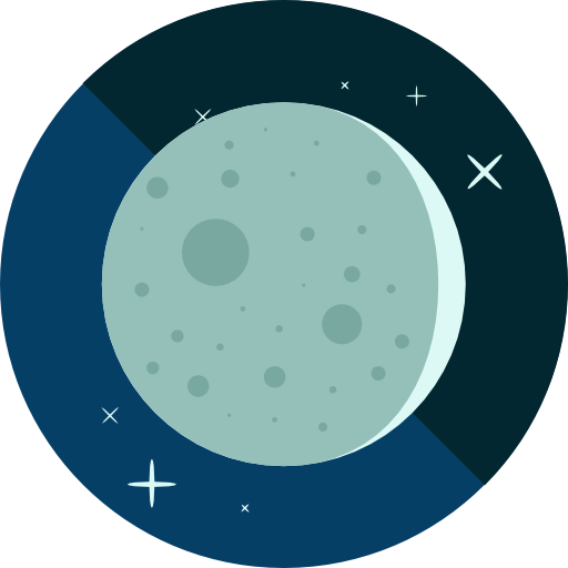 Moon Free Vector Icon Designed