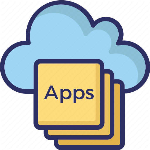 Apps, Apps Layers, Cloud, Cloud Apps Icon