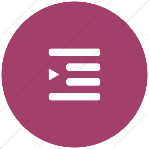 Flat Circle White On Pink Foundation Indent More Icon
