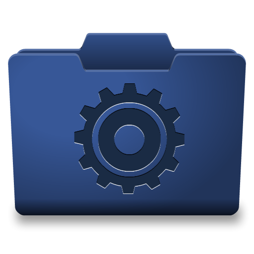 Blue Options Icon