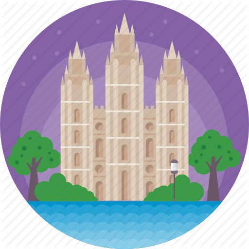 Salt, Salt Lake Temple, Temple Square In Salt Lake City