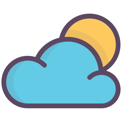 Clear Day, Cloud, Good Weather, Morning, Sun Icon Free
