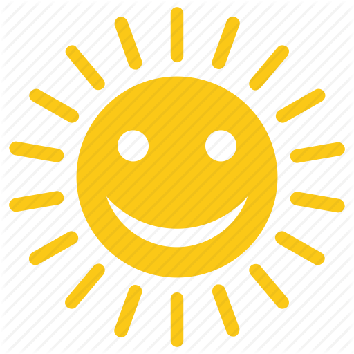 Good Morning, Happy Sun, Solar Sun, Sun Cartoon, Sunny Morning Icon