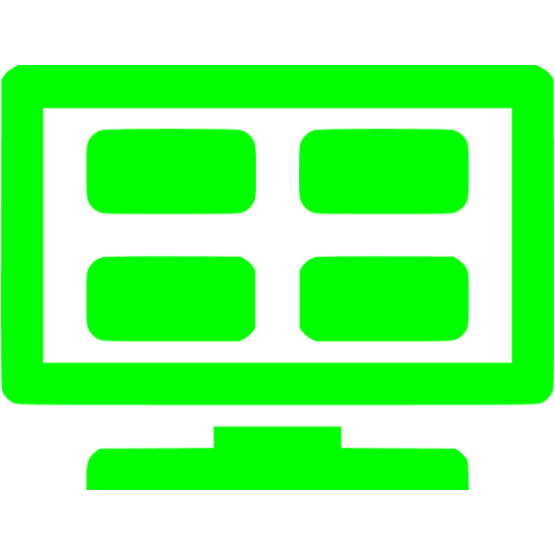Lime Channel Mosaic Icon
