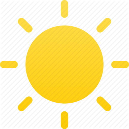 Day, Mostly, Sun, Sunny, Sunshine, Weather Icon
