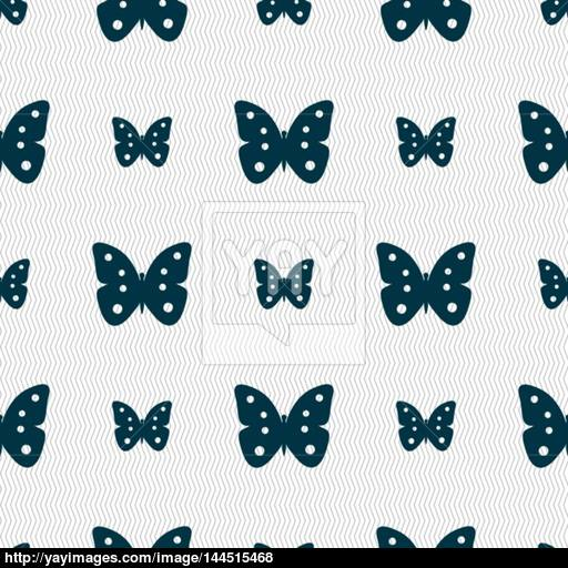 Butterfly Sign Icon Insect Symbol Seamless Abstract Background