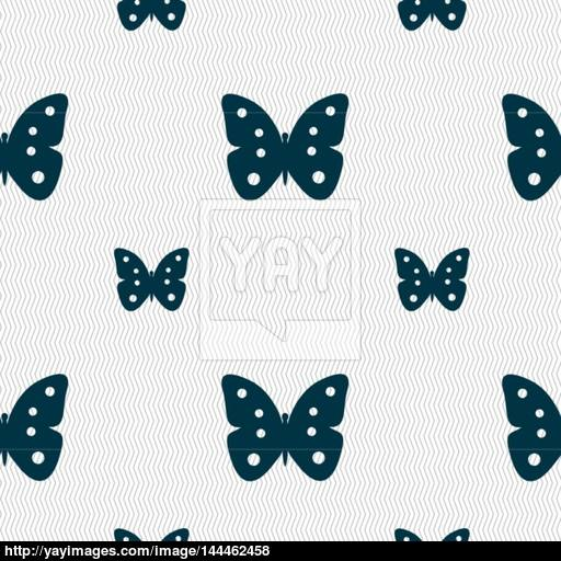 Butterfly Sign Icon Insect Symbol Seamless Pattern