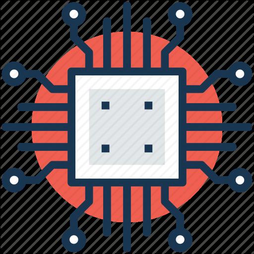 Chip, Circuit Board, Cpu, Motherboard, Processor Icon