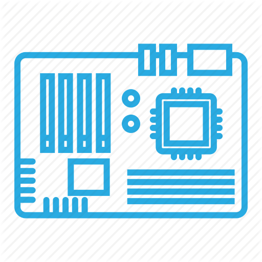 Chip, Computer, Hardware, Motherboard Icon