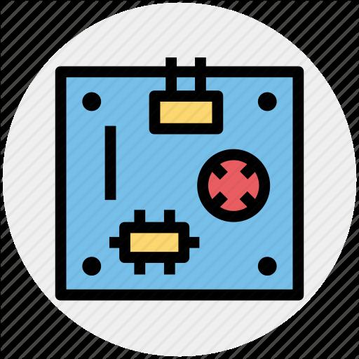 Circuit, Computer Motherboard, Electronics, Logic Board