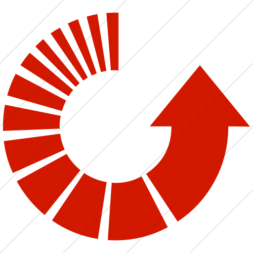 Simple Red Classic Arrows Motion Counter Clockwise Icon
