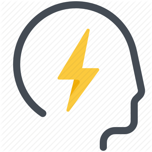 Brain, Energy, Head, Human, Idea, Lightning, Motivation Icon