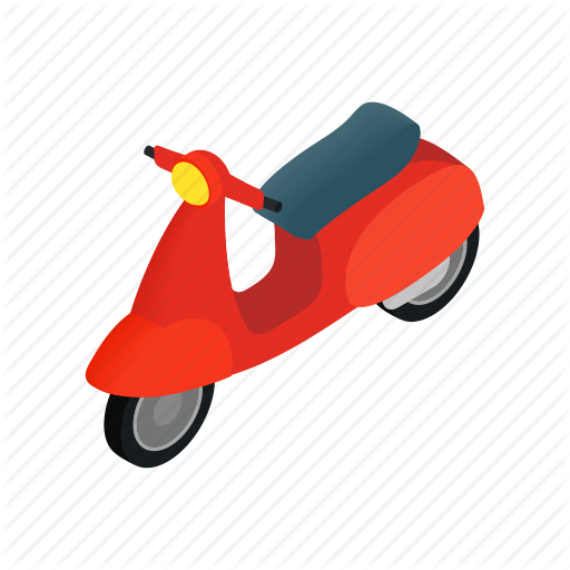 Isometric, Italy, Motor, Motorbike, Motorcycle, Retro, Scooter Icon
