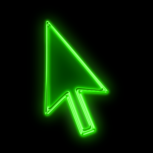 Green Pointer Icon Images