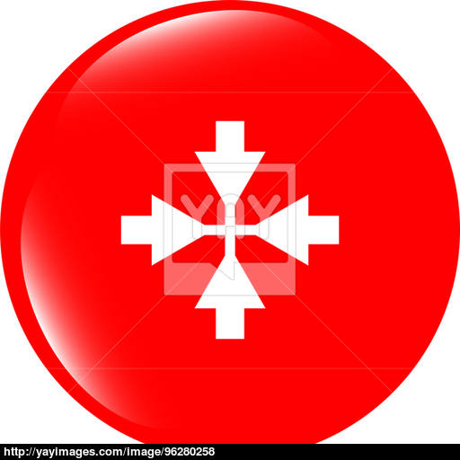 Mouse Cursor Sign Icon Pointer Symbol Modern Ui Website Button