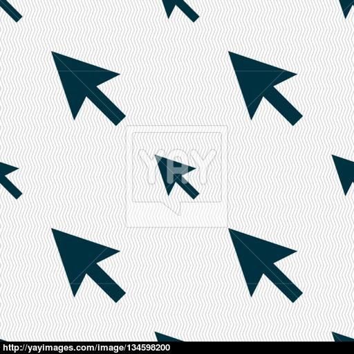 Arrow Cursor, Computer Mouse Icon Sign Seamless Pattern