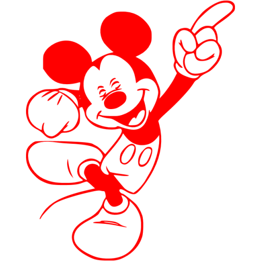Red Mickey Mouse Icon