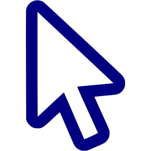 Navy Blue Cursor Icon
