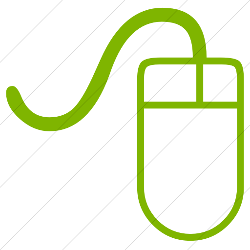 Simple Green Classica Computer Mouse Icon