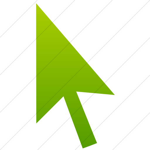 Simple Green Gradient Classica Mouse Pointer Icon