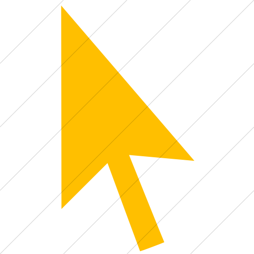 Simple Yellow Classica Mouse Pointer Icon