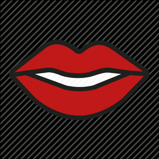 Kiss, Lips, Love, Mouth, Smile Icon