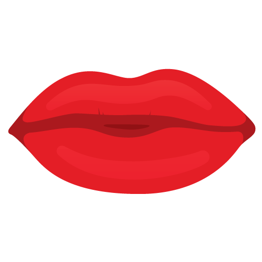 Red Mouth Lips Icon