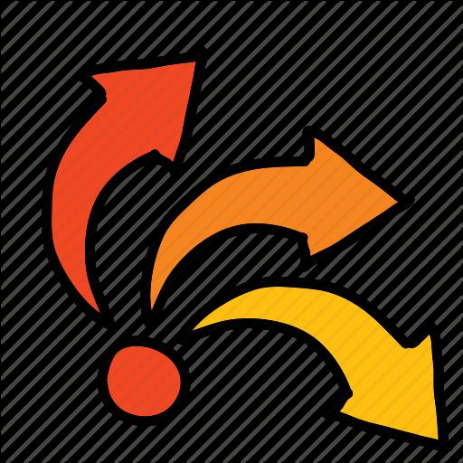 Arrows, Direction, Flow, Movement Icon