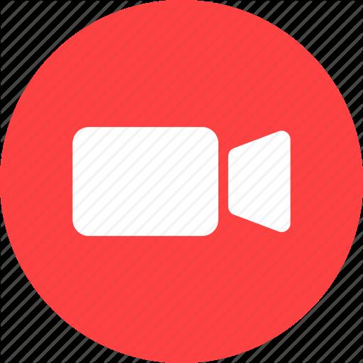 Circle, Movie, Red, Video, Video Camera Icon