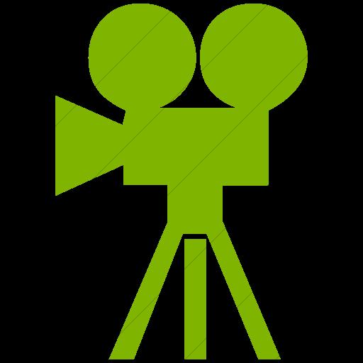 Simple Green Classica Movie Camera Icon