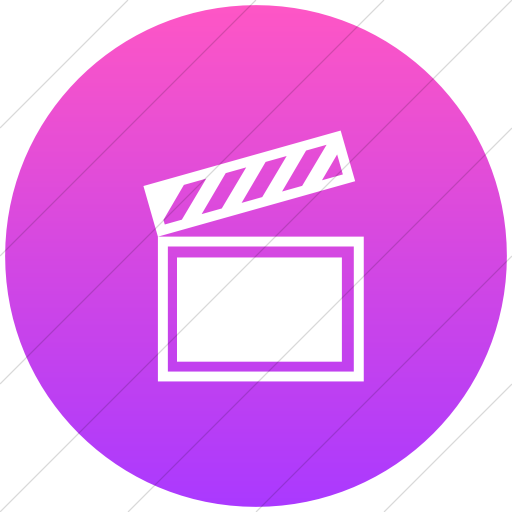 Flat Circle White On Ios Pink Gradient Classica Movie