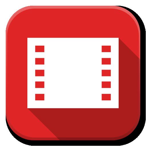 Apps Google Movies Icon Flatwoken Iconset Alecive