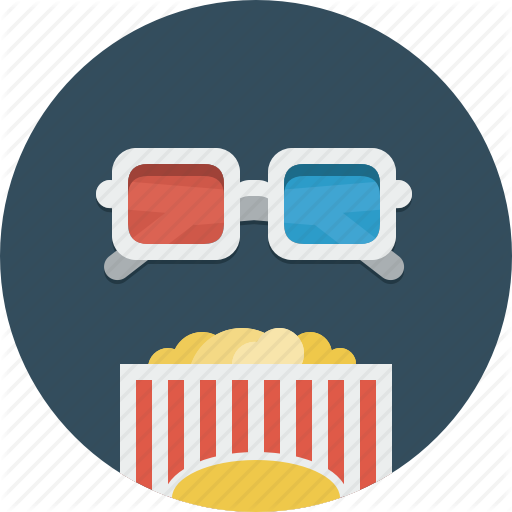 Cinema, Movie, Popcorn, Video Icon