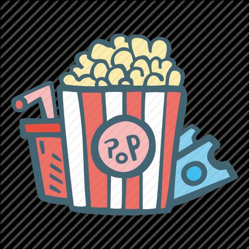 Cinema, Entertainment, Movie, Movies, Popcorn Icon