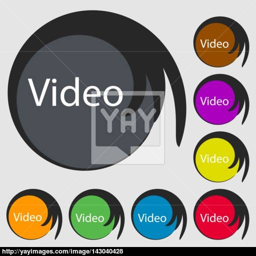 Play Video Sign Icon Player Navigation Symbol Symbols On Eight