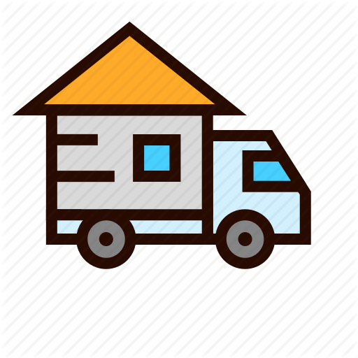 Car, Delivery, Home, House, Move, Relocation, Truck Icon