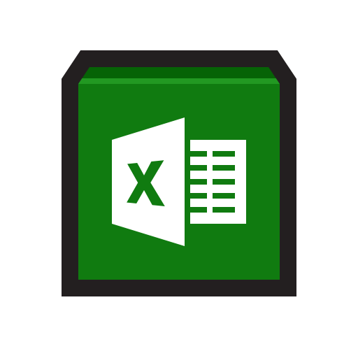 Microsoft Excel Icon Flat Strokes App Iconset Hopstarter