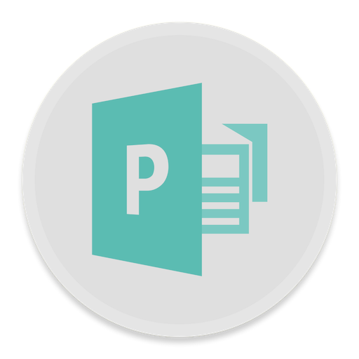 Publisher Icon Button Ui Ms Office Iconset Blackvariant