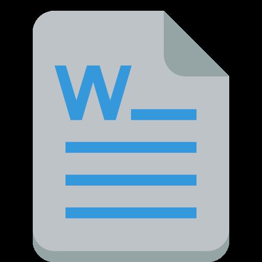 Word Icon Small Flat Iconset Paomedia