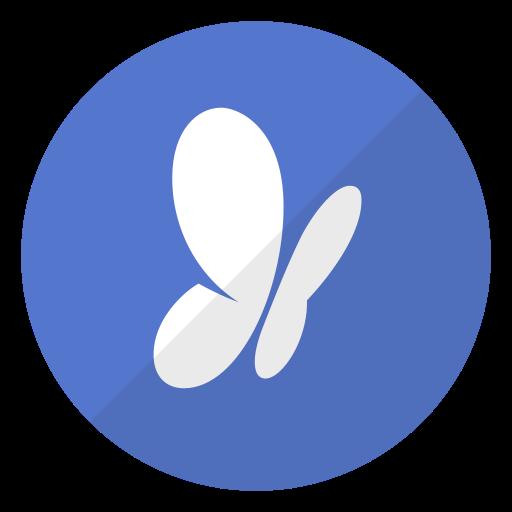 Butterfly, Logo, Media, Msn, Social, Website Icon