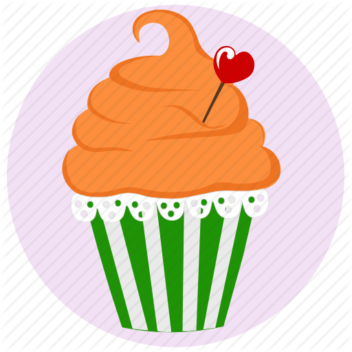 Birthday, Cake, Cupcake, Dessert, Muffin, Muffn, Pink Icon Icon