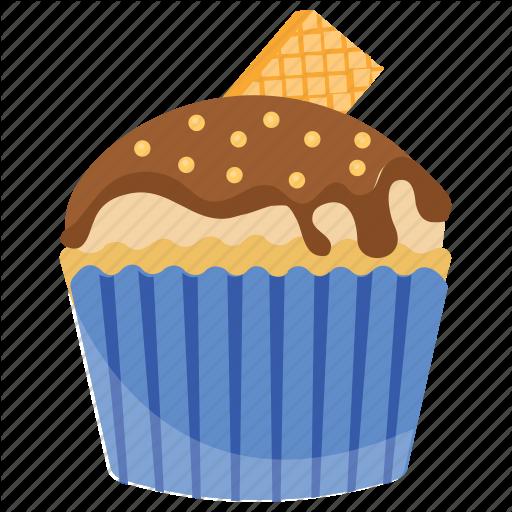 Choco Vanilla Cupcake, Small Cake, Sweet Cake, Vanilla Cupcake