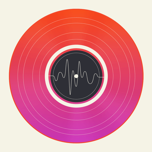 Vinyl Music And Video Manager App Icon Flat App Icons