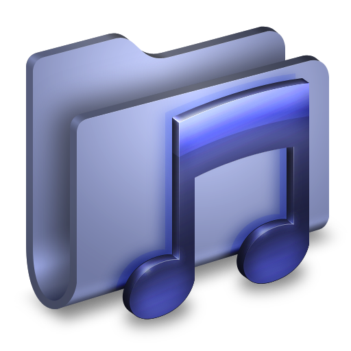 Music Blue Folder Icon Alumin Folders Iconset Wil Nichols