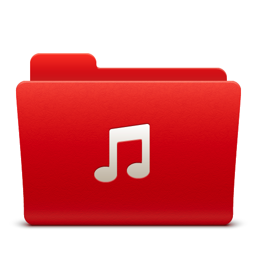 Music, Folder Icon Free Of Soda Red Icons